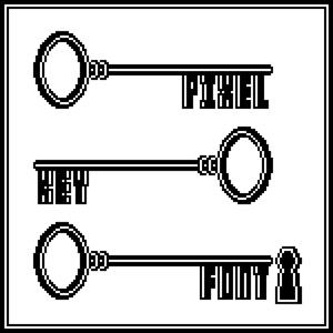Pixelkey(ドットの鍵風フォント)