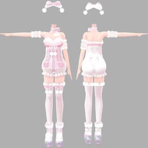 アイスクリームランジェリーシリーズ しろくまフレーバー(着せ替え用衣装パーツ) ver1.0