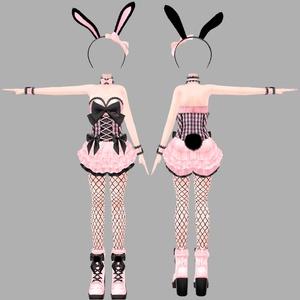 アイスクリームランジェリーシリーズ くろうさフレーバー(着せ替え用衣装パーツ) ver1.0