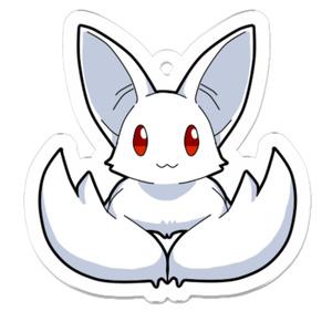 【オリジナル】『白コウモリ』アクリルキーホルダー