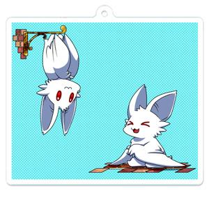 【オリジナル】白コウモリアクリルキーホルダー2