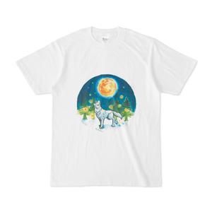 月と蛍と狼Tシャツ