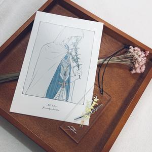 花×刀剣男士|アクリルキーホルダー・イラストカードセット|