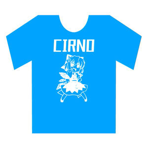 ブルー蓄光 チルノTシャツ ブルー Lサイズ