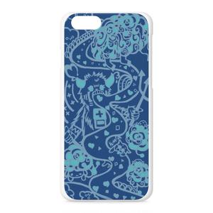 iPhoneケース ハート ブルー