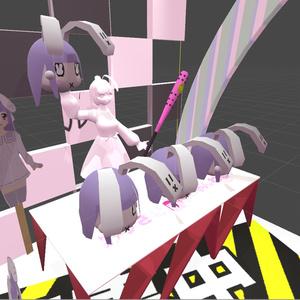 【無料】オリジナル3Dモデル「SDドコカノうさぎヘッド」