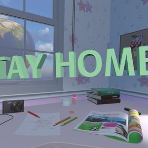 【無料】3Dモデル「StayHomeの文字」
