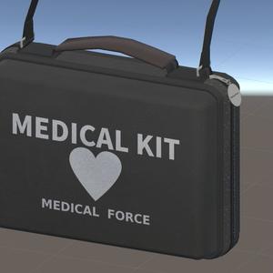 【無料】AED/MEDICAL KITっぽいカバン【VRChat想定】