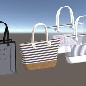 【3Dモデル】ビーチ向けバッグ3種