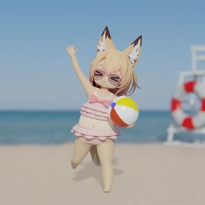 【3Dモデル】「こうめ」「おもち」ちゃん向け水着
