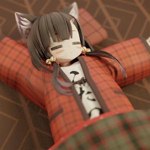 【3Dモデル】あずきちゃん向け ハンテン+ジャージ