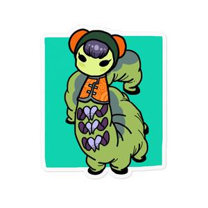 中華芋虫ちゃんステッカーカラーグリーン