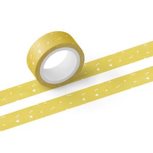 こいしちゃんマスキングテープ#04<flake>yellow