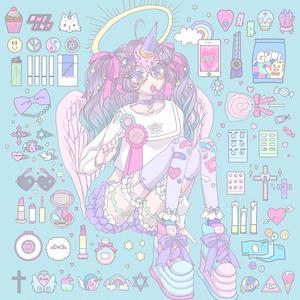 ポストカード ice cream unicorn