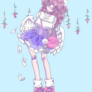 ポストカード angel of harajuku