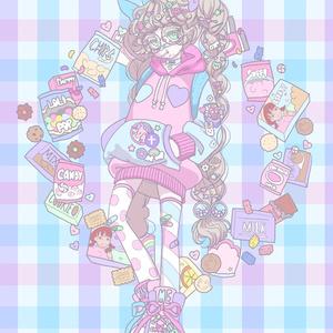 ポストカード pop snack girl