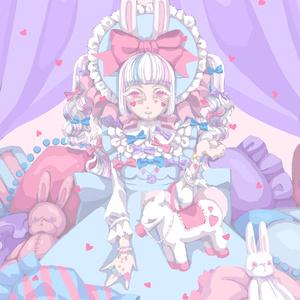 ポストカード decoration  lolita