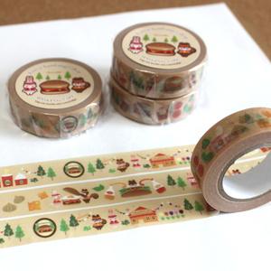 【マスキングテープ】森のハンバーガー屋さん