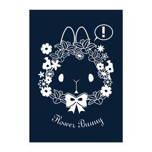 【ポスター】Flower Bunny 黒地
