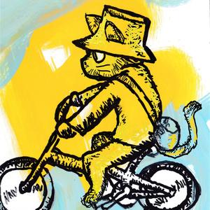 自転車猫 (小)