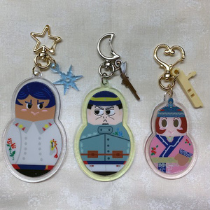 月鯉エノ・マトリョーシュカ風アクキー【グロス倍盛りセット】