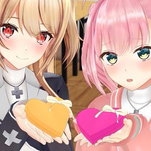 楓とみりあとバレンタインチョコ&ゲーム部クッキー