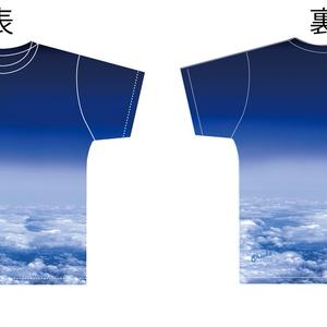 【送料無料】アオゾラと雲 Tシャツ フリーサイズ