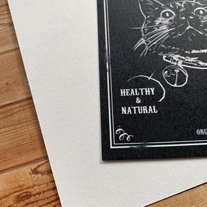 フレッシュキャットのチョークアート風ポストカード