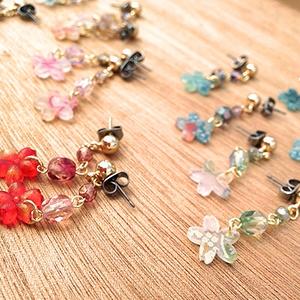 《ヘタミュ》桜の咲く頃に(イヤリング)