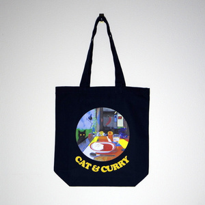 CAT & CURRY トートバッグ (Navy)