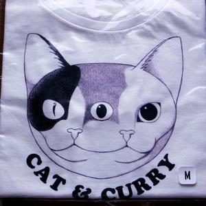 Tシャツ (CAT & CURRY) white