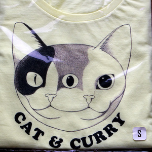 Tシャツ (CAT & CURRY) turmeric