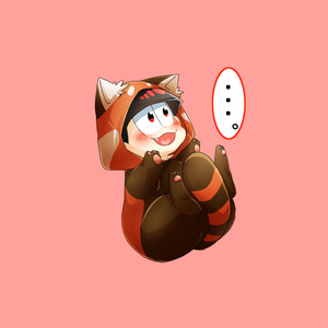 無言で抱っこを求めるケモ松缶バッチ(おそ松)