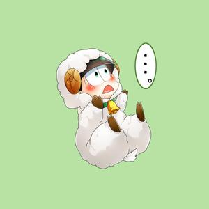 無言で抱っこを求めるケモ松缶バッチ(チョロ松)