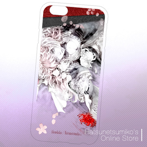《iPhone6/6s》Akenokalas x Hatsunetsumiko's collaboration クリアハードケース(西行寺幽々子)