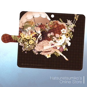 《android/iPhone6Plus》Akenokalas x Hatsunetsumiko's collaboration 汎用手帳型スマートフォンケース(風見幽香)