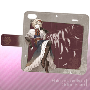《iPhone6/6s/SE/5/5s》Akenokalas x Hatsunetsumiko's collaboration 手帳型ケース(アリス・マーガトロイド)