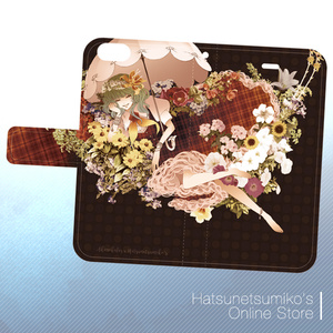 《iPhone6/6s/SE/5/5s》Akenokalas x Hatsunetsumiko's collaboration 手帳型ケース(風見幽香)