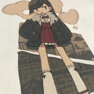 Shikemoku 生成りトート( M )