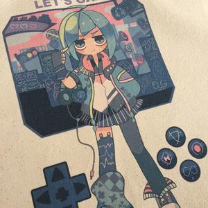 Game Girl 生成りトート(M)