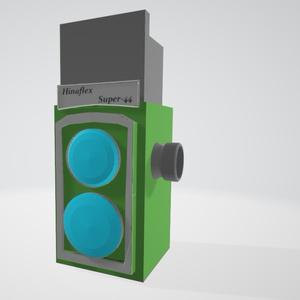 【VRC手持ち小物向け3Dデータ】二眼レフ「HinaFlex Super-44」