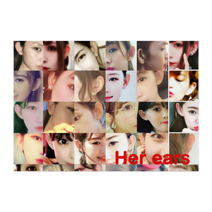 Her ears ポスター (サイズ各種 光沢紙)