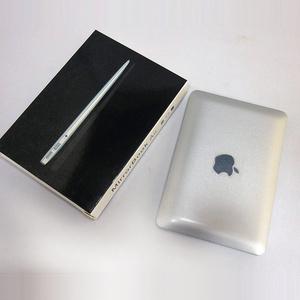 【送料無料】Macbook型ミラー(シルバー / ホワイト)【ノートPC型ミニチュア手鏡】