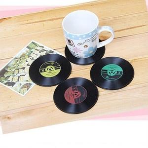 【送料無料】アナログLPレコード型コースター 4枚(4色)セット