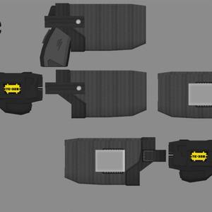 3Dモデル TE-328テーザーガン 汎用ホルスター付き