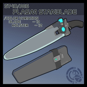 3Dモデル ST-10/M6 プラズマスタンブレード