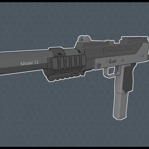 3Dモデル M11 type-E サブマシンガン