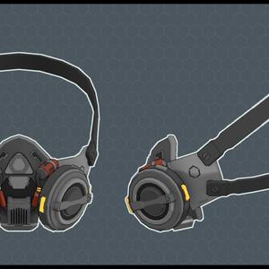 3Dモデル Mo2 サイバーパンク風ガスマスク