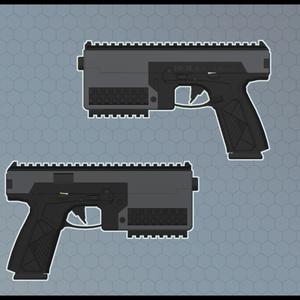 3Dモデル HD-38ピストル