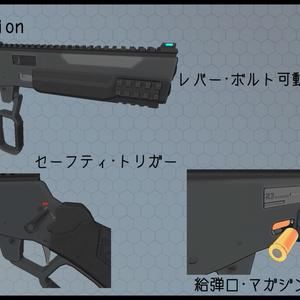 3Dモデル R3M506 レバーアクションピストル